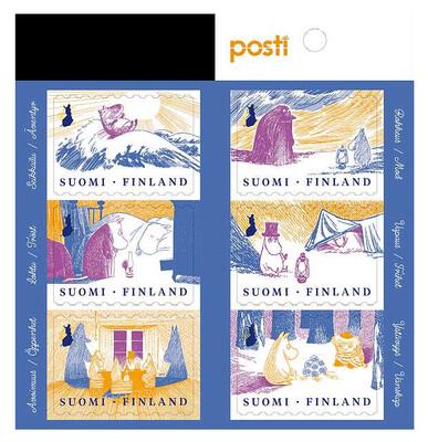 Финляндия. Муми-тролли. Советы для хорошей жизни. Буклет из 6 самоклеящихся марок