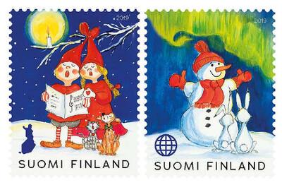 Финляндия. Рождество (первый выпуск). Рождественский концерт и зимние чудеса. Серия из 2 самоклеящихся марок