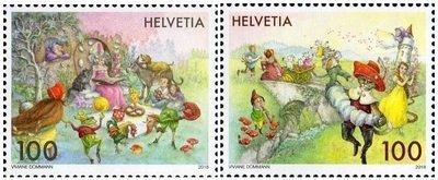 Швейцария. Сказки. Серия из 2 марок