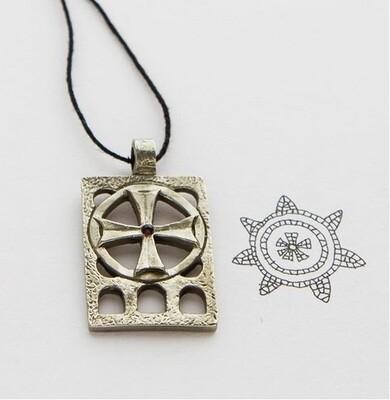 Медальон «Небо» с камнем