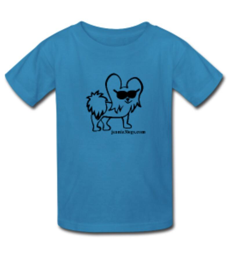 Teal SMALL Cartoon Kids T-Shirt