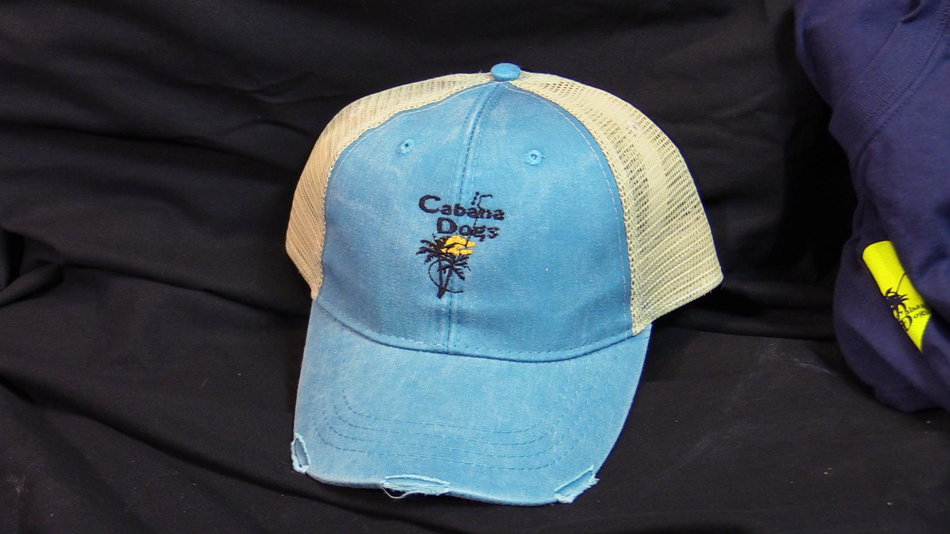 "Cabana Dogs logo ""Road-Worn"" Baseball Cap 3 colors"