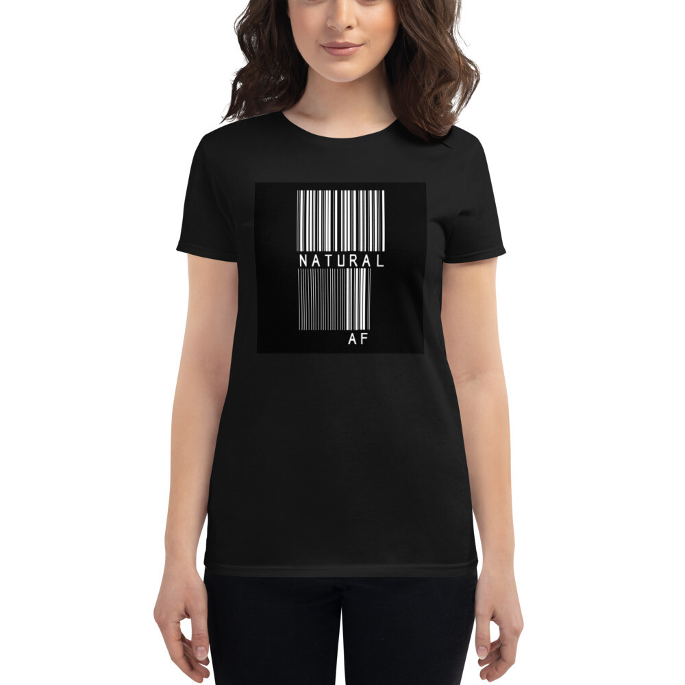 Women's short sleeve t-shirt-bar code