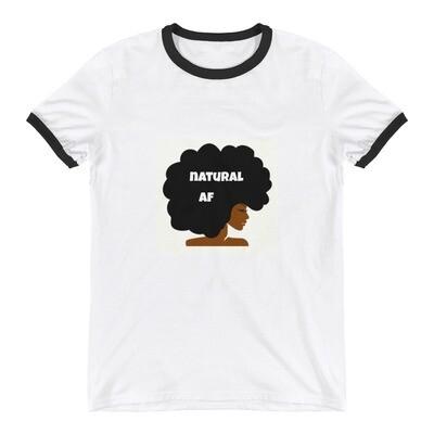 Ringer T-Shirt-natural af afro queen