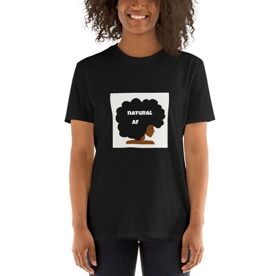 Short-Sleeve Unisex T-Shirt-natural af afro queen