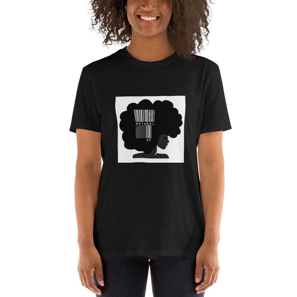 Short-Sleeve Unisex T-Shirt-bar code afro queen