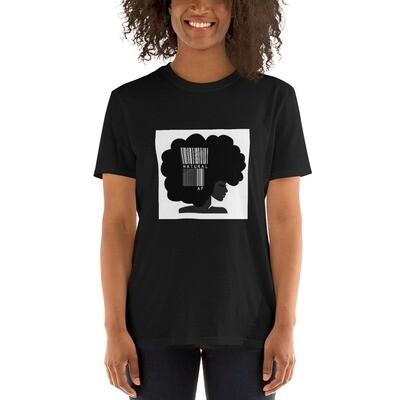 Short-Sleeve Unisex T-Shirt-bar code afro queen