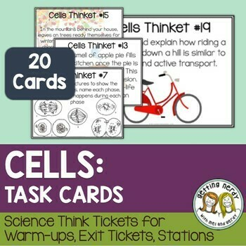Cells - Task Cards