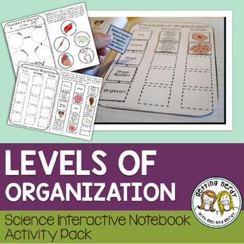 Science Interactive Notebook - Levels of Organization & Needs of Living Things