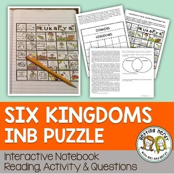Science Interactive Notebook - Six Kingdoms of Life Puzzle