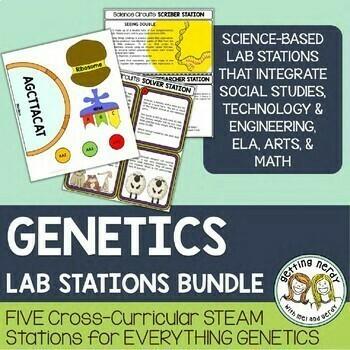 Genetics & Heredity Bundle - STEAM Science Centers / Lab Stations