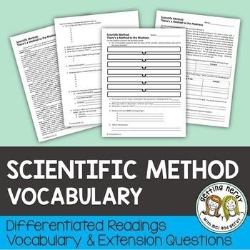 Scientific Method - Differentiated Vocabulary