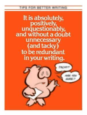 Writing Redundancy