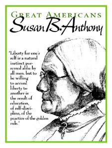 Susan B Anthony - Education / Self-Discipline