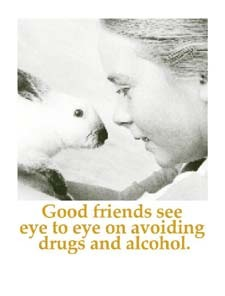 Good friends see eye to eye..