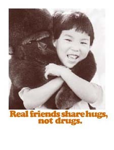 Real friends share hugs not drugs