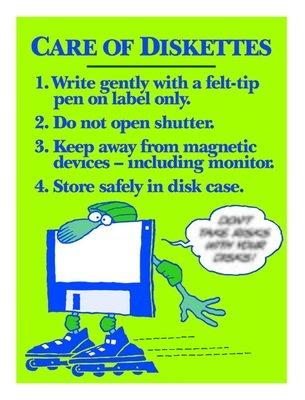 Proper Care of Diskettes