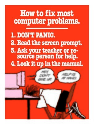 How to fix most computer problems.