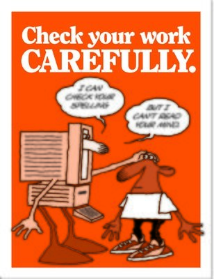 Check your work carefully.