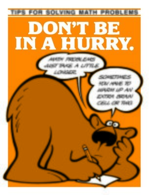 Don't Be in a Hurry
