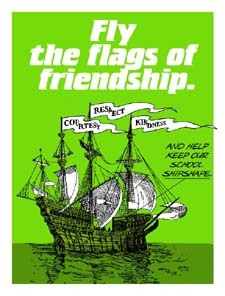 Fly the flags of friendship.