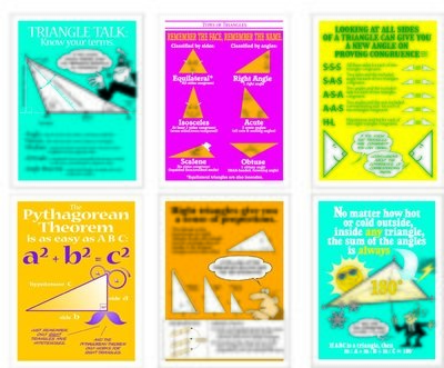 Triangle Tips Poster Set (6)