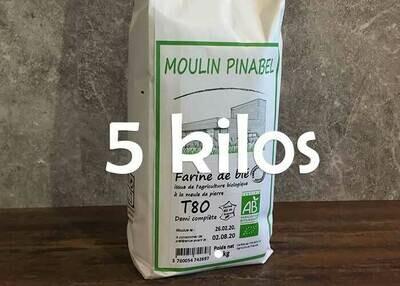 Farine T80 bio - 5kg