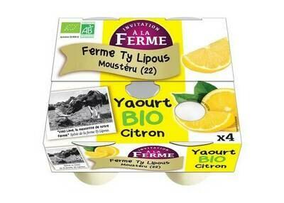 Yaourts au citron bio - 4x125gr
