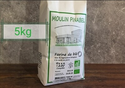 Farine T110 bio - 5kg