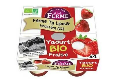 Yaourt à la fraise bio 4x125gr