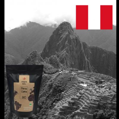 Café moulu du Pérou, transformation locale, bio