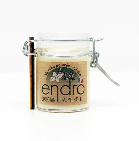 Déodorant naturel baume à la menthe poivrée bio