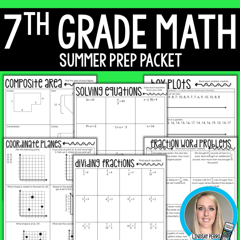 7th Grade Math Summer Prep Packet