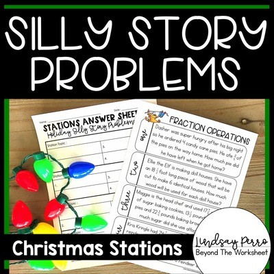 Christmas Math Stations: Silly Stories!
