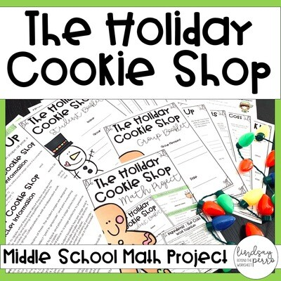 The Christmas Cookie Shop Math Project