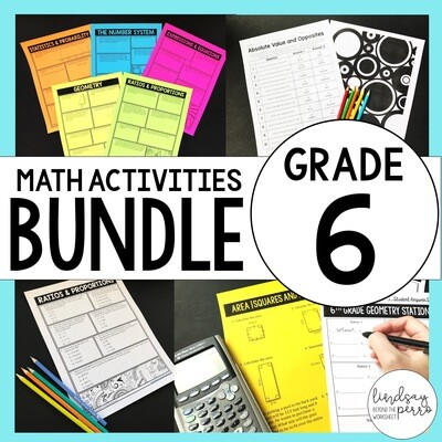 6th Grade Math Curriculum Resources: A Year of Supplemental Activities