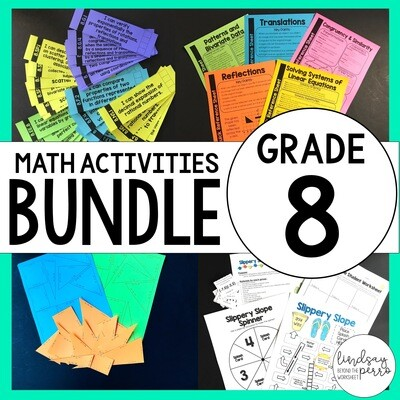 8th Grade Math Curriculum Resources: A Full Year of Activities