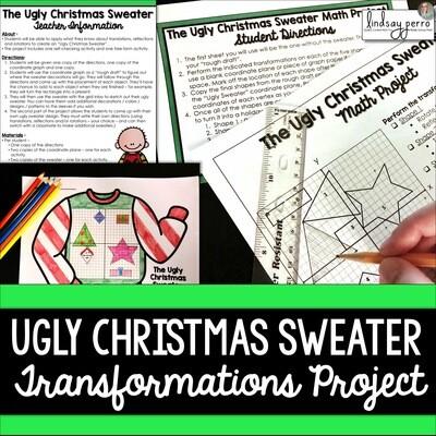Geometric Transformations Christmas Math Project