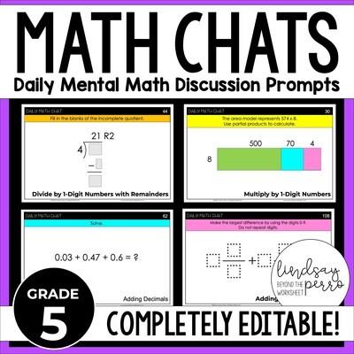 5th Grade Math Chats