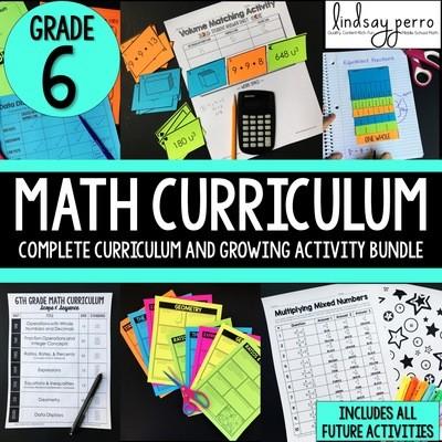 6th Grade Math Curriculum and Activities Bundle