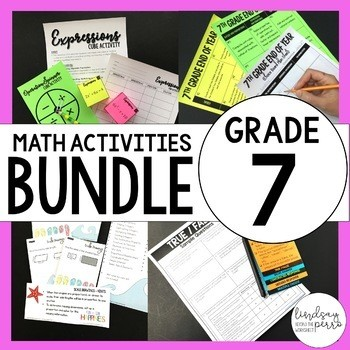 7th Grade Math Curriculum Resources: A Year of Supplemental Activities