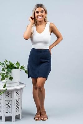 Vivian Fray Skirt - Navy