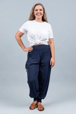 Harem Pants - Navy