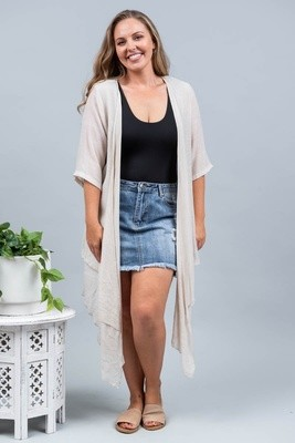 Sandy Beach Summer Cardi - Latte