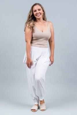 Harem Pants - White