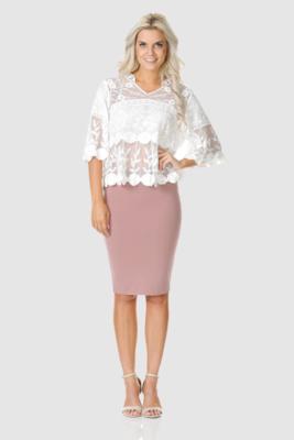 Love U Basics Midi Skirt - Dusty Pink