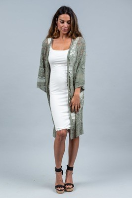 Summer Dreaming Lace Cape - Sage