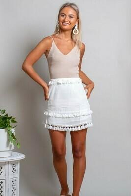 Kylie Short Knit Top - Sand