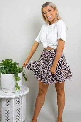 Elouera Frill Mini Skirt - Blush Leo