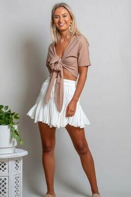 Elouera Frill Mini Skirt - White